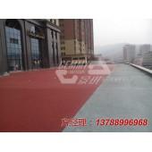 淮南道路彩色景观防滑地坪的做法