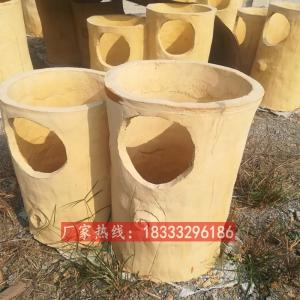供应水泥仿木垃圾桶 户外垃圾箱 果皮箱水泥材质景区环卫回收箱