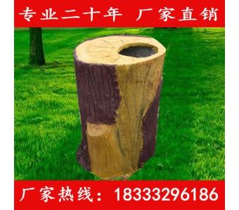 GRC垃圾桶加厚户外垃圾桶市政府社区环卫分类水泥仿木垃圾桶