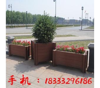 户外仿木纹水泥花盆花箱花槽 广场景观混凝土花盆 厂家定做花箱