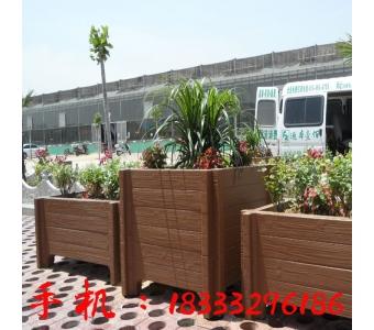市政道路隔离水泥花箱 景观工程塑木花箱 户外防腐绿化水泥花箱