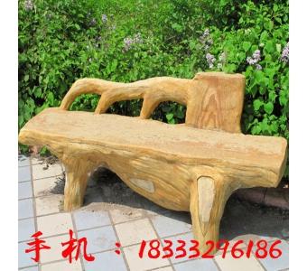 批发水泥仿木长条板凳 凳子 椅子 厂家批发各种园林塑木景观