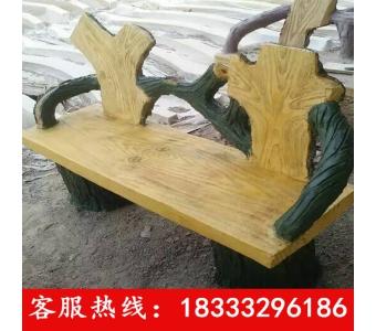 定做水泥仿木桌子椅子园林绿地景观GRC水泥桌椅仿木椅子