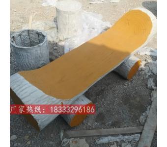 水泥仿木凳子仿木长座椅 混凝土材质景区公园艺术长椅子