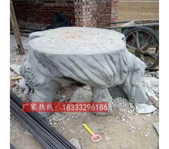 现货水泥仿木凳子仿木长座椅混凝土材质景区公园艺术长椅子