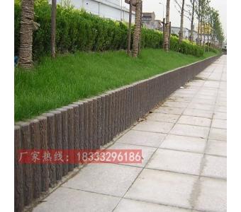水泥仿木桩河道挡土墙河堤安全护栏围栏生态挡土水泥桩