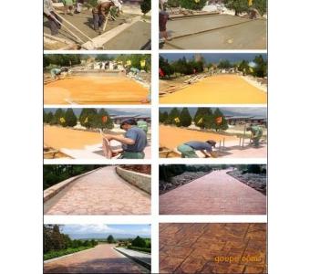 广东 三亚地区散热性彩色透水地坪的施工案例