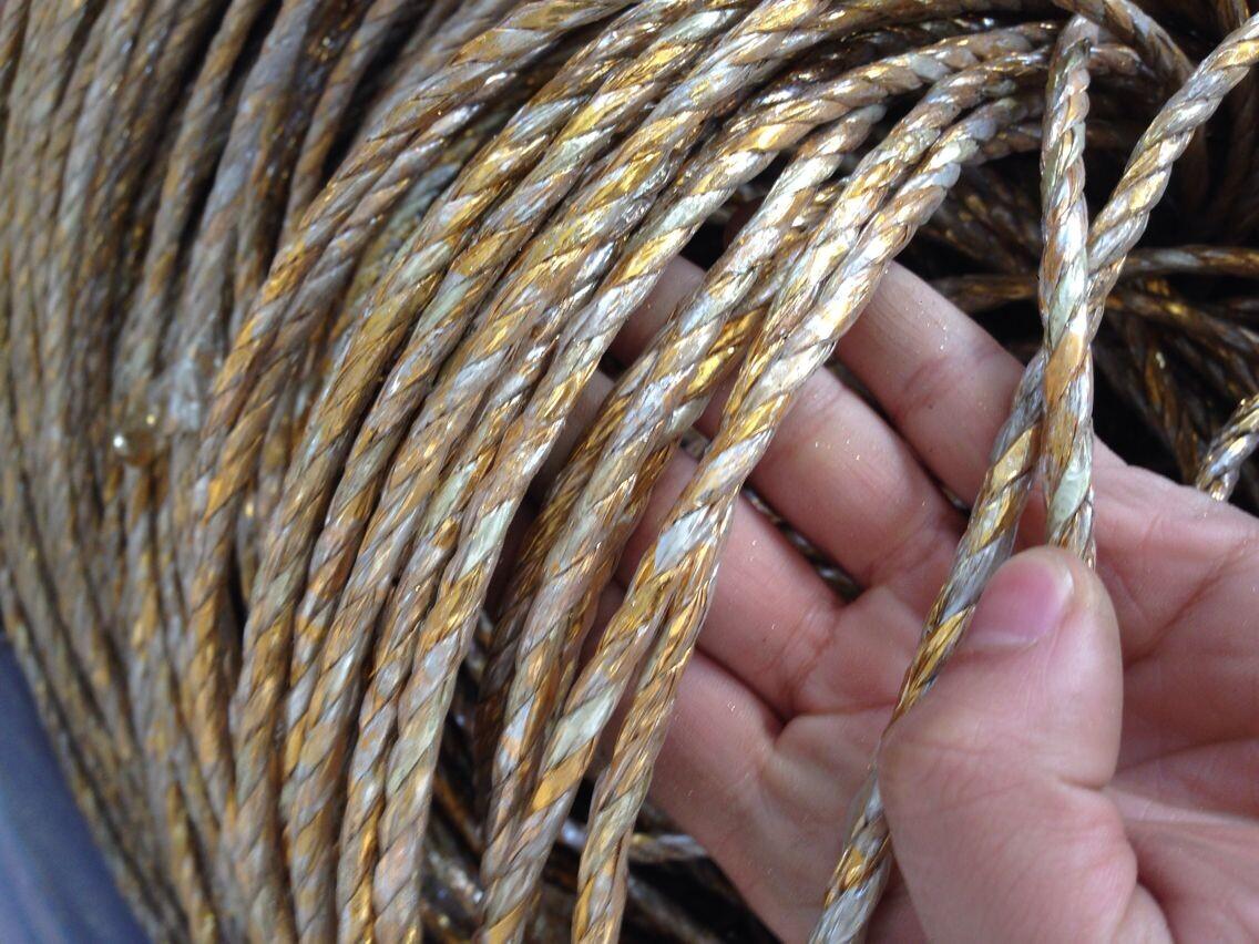 烫金纸黄金塑料绳子